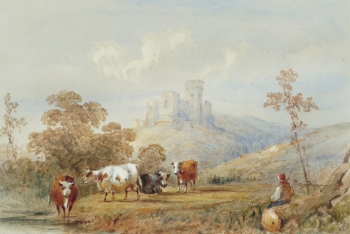 Cattle before a Castle, Frederick Earp