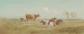 Cattle in a Meadow, Henry Earp snr