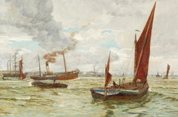 Shipping in Southampton Waters, William Lionel Wyllie