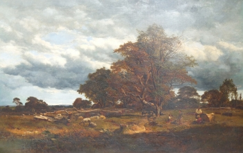 Shepherd & His Family in a Parkland Landscape, Alfred Walter  Williams