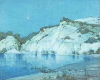 Moonlight The Blue Pool, Corfe, Albert Moulton Foweraker