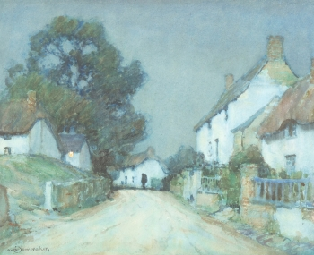 A West Country village at Dusk, Albert Moulton Foweraker