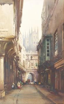 Mercery Lane. Canterbury, Noel Harry Leaver