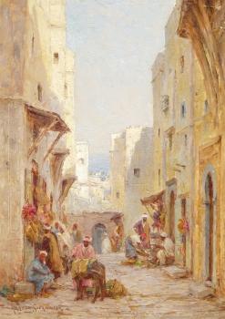 A Street in Algiers, Joseph Harold Swanwick
