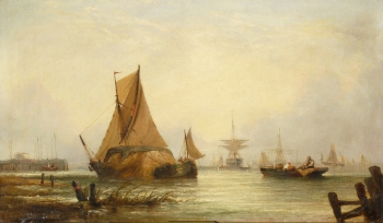 Shipping off the Dutch Coast, William Callcot Knell