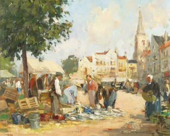 Market Day, Paul-Emile Lecomte