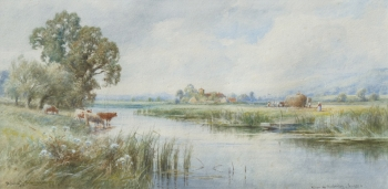 View of Amberley, Sussex , Henry John Kinnaird