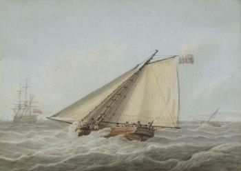 Cutter in a Stiff Breeze, Samuel  Atkins