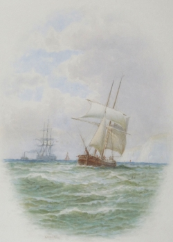 Shipping off the Coast, George Stanfield Walters