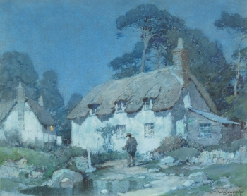 Moonlight, East Lulworth, Albert Moulton Foweraker
