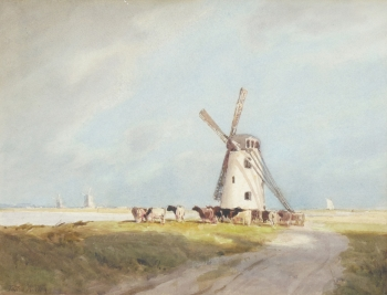 Windmills on the Fens , William Tatton Winter