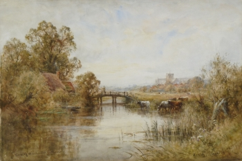 A View of Winchester  Cathedral, Henry John Kinnaird