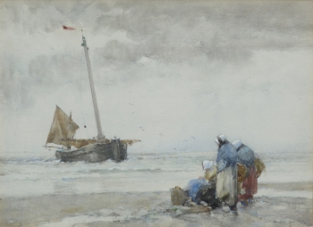 Waiting for the Boats , Dudley Hardy