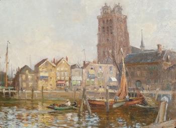 Dordrecht from the Harbour , William Kay Blacklock