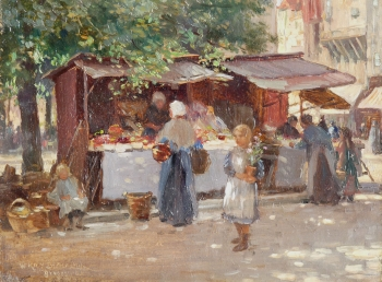 Market Day, Bruges, William Kay Blacklock