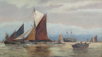 Fishing Boats Setting Out, Richard Henry  Nibbs