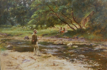 Fishing on the Spey, Charles Martin Hardie