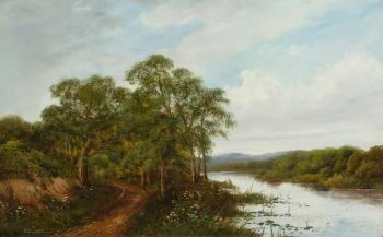 River Landscape , Edwin Henry Boddington
