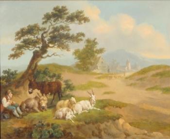 Boy with Livestock, Peter La Cave