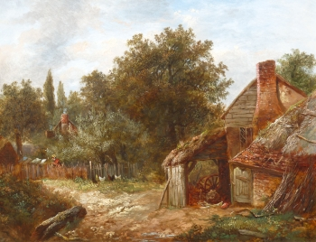 Cottage & Chickens, Joseph Thors