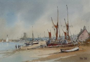 Barges at Upnor, Peter Toms