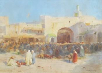 An Arab Bazaar, John Spence Ingall