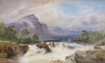 A Mountain Torrent, Isle of Arran, William Evans (of Eton)