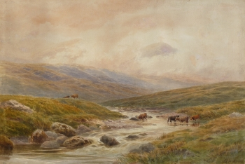 Highland Landscape with Cattle, Alfred Powell