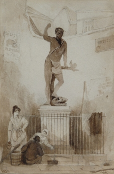 Figures by the Statue of Neptune, Bristol, William James Muller
