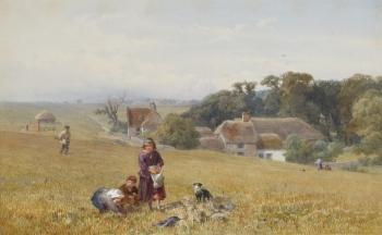 Gleaners near Margate, Isle of Thanet, John Henry Mole