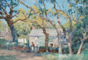 A Cornish Cottage, Trevose, Albert Moulton Foweraker