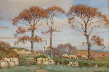 Cornish Elms, Venwyn, Carbis Bay, Cornwall, Albert Moulton Foweraker
