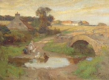 Feeding the Ducks, William Miller Frazer