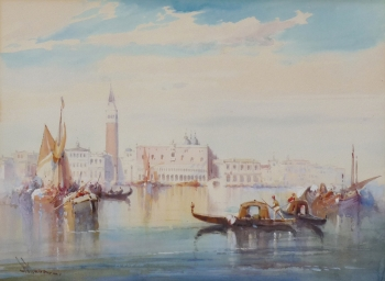 View of the Doge's Palace & Campanile, Wilfred Knox