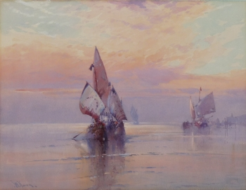 Sunset off Venice, Wilfred Knox