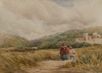 Stokesay Castle, near Ludlow, David Cox senior