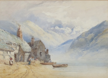 A Mountain Lakeside Village, John Callow