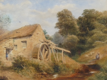 An Overshot Watermill, English School