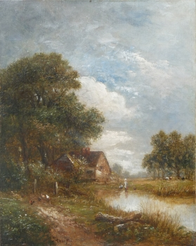 Figures by Farm Ponds, Joseph Thors