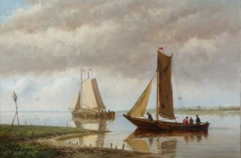 Fishing Boats in an Estuary, Hendrik Hulk
