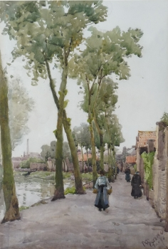 Figures by a Continental Canal, Miss Margaret Bernard