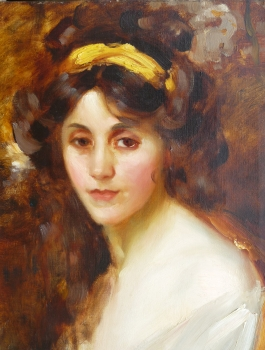 Woman with a Yellow Headband, Gertrude Des Clayes
