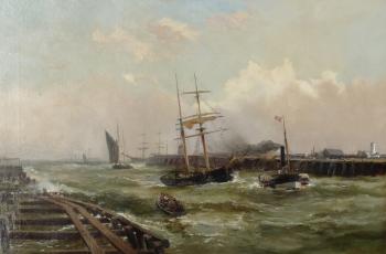 Passing Gorleston Pier, Norfolk, Robert Ernest Roe