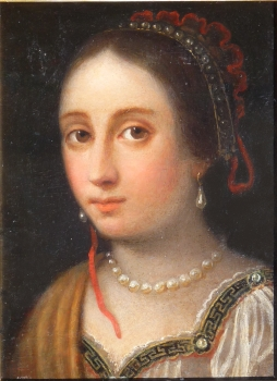 Portrait of a Girl with Pearl Necklace, Giovanni Martinelli