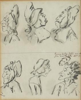 """""""Everyone tells One I Look Like Mrs Si(ddons?)"""", George Moutard Woodward"""