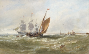 Shipping in a Swell, Edwin Hayes