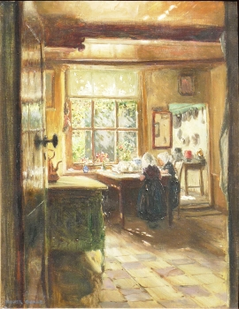 Dutch Interior, Walter J. Donne
