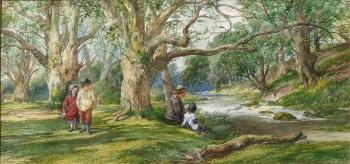 Landscape with Figures, Thomas Bolton Dalziel