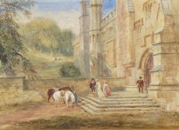 Haddon Hall, the Entrance, 1420, David Cox senior