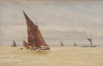 A Medway Stumpy, William Lionel Wyllie